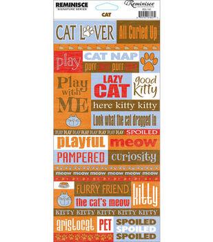 Reminisce Signature Series Quote Stickers-Cat