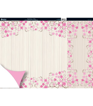 Kanban Free As A Bird 2Sided Cardstock 12X12-Floral Frame Pink