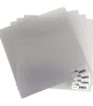 Clear Scraps 12''x12'' Acrylic Sheets-25PK