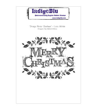 IndigoBlu Design Merry Christmas Cling Mounted Stamp