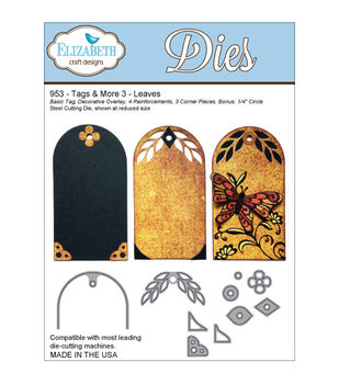 Elizabeth Craft Designs Tags & More Tag 3 Dies