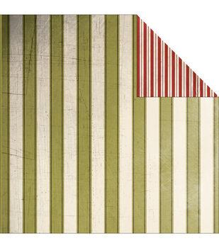 """Joyeux Noel Double-Sided Heavy-Weight Paper 12""""X12""""-Stripe"""