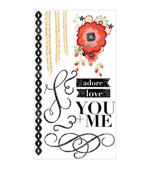 Adorn-It You & Me Adore Clear Stickers