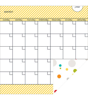 "Classic Calendars Double-Sided Cardstock 12""X12""-Bell Pepper Calendars"