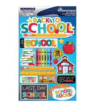 Reminisce Signature Dimensional Stickers Back To School