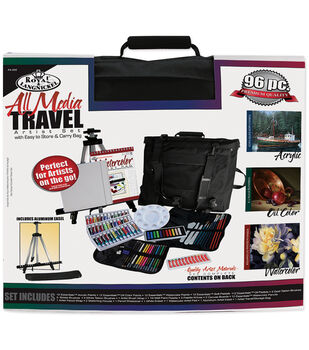 Royal Brush Travel Artist Set With Easy To Store & Carry Bag-All Media