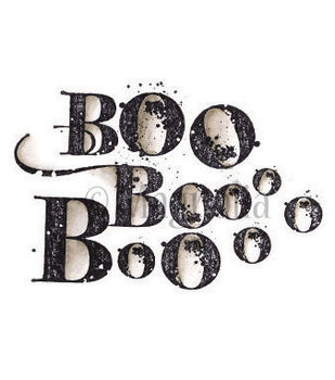 Magnolia So Spooky Cling Stamp Boo Background
