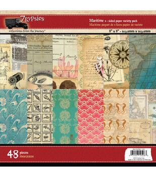 7 Gypsies Maritime Double-Sided Paper Pad 8''x8''