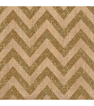 Crate Paper Craft Market Chevron With Gold Glitter Specialty Sheet