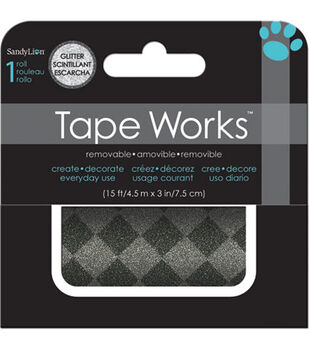Gray Silver Glitter Accent Tape