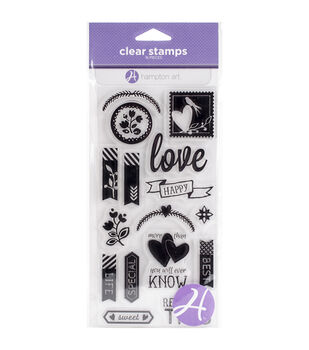 Hampton Art Love Clear Stamps
