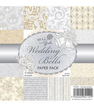 Wild Rose Studio Wedding Bells Paper 6''x6''