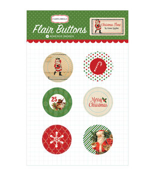 Carta Bella Christmas Time Flair Buttons