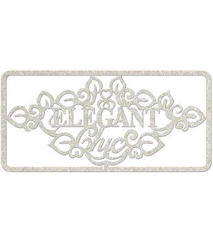 Fabscraps Elegant Chic Die-Cut Gray Chipboard Word