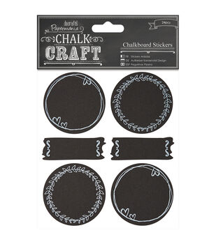 Papermania Chalk Craft Doodle Circles Chalkboard Stickers