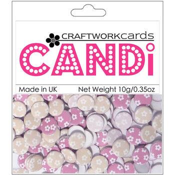 Craftwork Cards Candi Dot Printed Embellishments Amelia