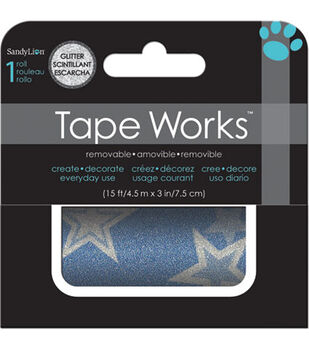 Blue Stars Glitter Accent Tape