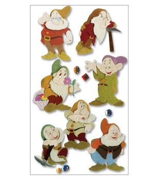 Disney Movie 3-D Stickers-Snow White/The Seven Dwarves