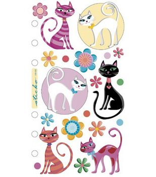 Sticko Vellum Stickers-Krazy Kittens