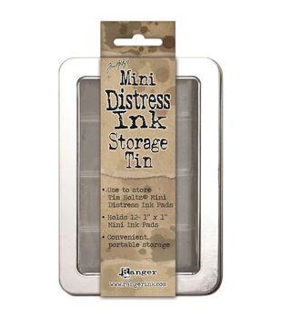Mini Distress Ink Storage Tin -Holds 12