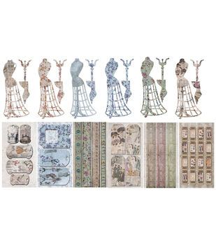 Oh! Sew Beautiful Journal Pack 12 -Mannequins, Tags, Tickets, Borders