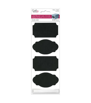 Craft Decor Chalkboard Labels 1 Stickers With Chalk