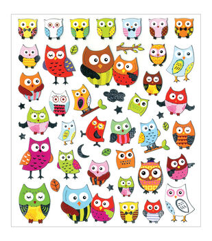 Forever In Time Dazzle Creature Pals Pretty Owls Stickers Sheet