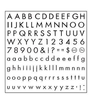 Fiskars® Clear Stamps-Basic Font