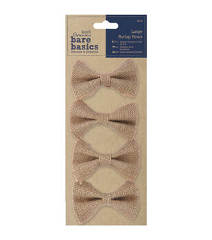 Papermania Bare Basics Burlap Large Bows