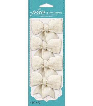 Jolee's Boutique - Cream Burlap Bows