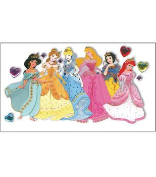 Disney Princess Jewels Le Grande Dimensional Stickers-Multiple Princesses