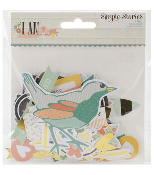 Simple Stories I Am Bits & Pieces Die-Cuts With Gold Accents