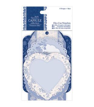papermania Parisienne Blue Die-Cut Notelets 18/Pkg-