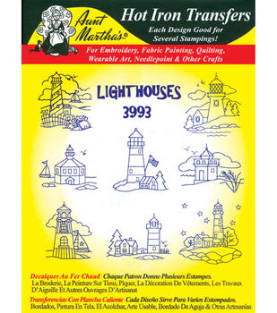 Aunt Martha's Iron-On Transfers-Cross Stitch & Quilts 24 Pack