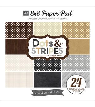 Echo Park Paper Company Dots & Stripes Neutrals Paper Pad
