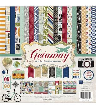 Echo Park Paper 12X12in - Getaway Collectn Kit