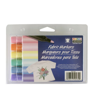 Fabric Markers Pastel Set, bold tip
