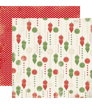"Christmas Time Double-Sided Cardstock 12""X12""-Trim The Tree"