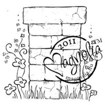 Magnolia Sweet Rainbow Cling Stamp Flower Wall Post