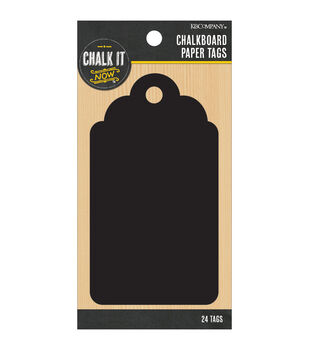 Chalk It Now Chalkboard Paper Tags-Traditional