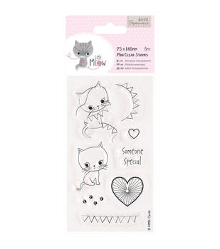 Papermania Little Meow Someone Special Mini Clear Stamps