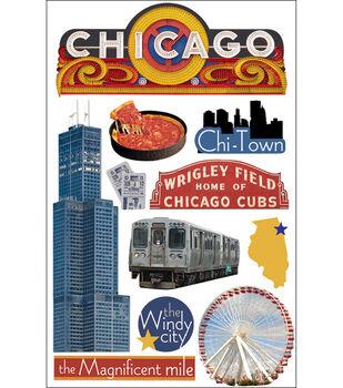 Paper House 3-D Sticker-Chicago
