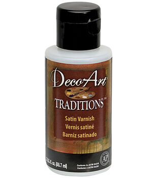 Deco Art Traditions Satin Varnish Medium 3 Ounces