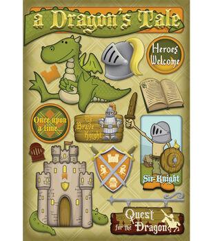 Karen Foster Cardstock Stickers-A Dragon's Tale