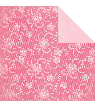 """Classique Pretty Double-Sided Cardstock 12""""X12""""-Lacy"""
