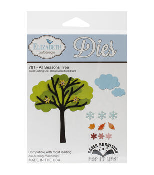 Elizabeth Craft Pop It Up Metal Dies By Karen Burniston-All Season Tree