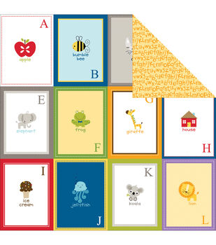 "Tiny Tots Double-Sided Cardstock 12""X12""-Flashcards A-L"