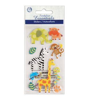 Sandylion Essentials Dimensional Stickers-On The Safari