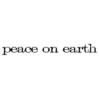 Stampers Anonymous Red Rubber Stamp Peace On Earth