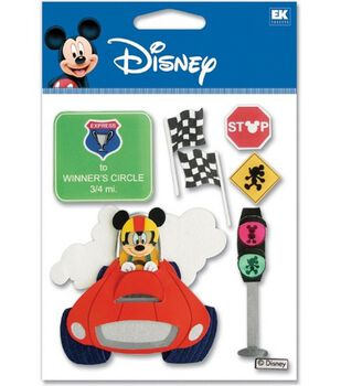 Disney Dimensional Vacation Stickers-Race Car Mickey